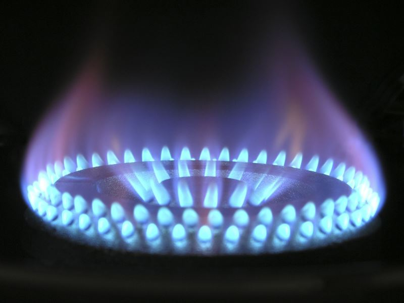 gas flame from a stove