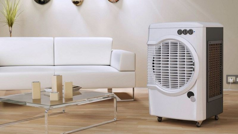 A portable Air Cooler in the Living Room