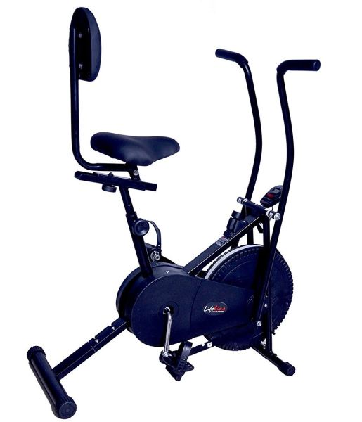 a simple blue exercise machine