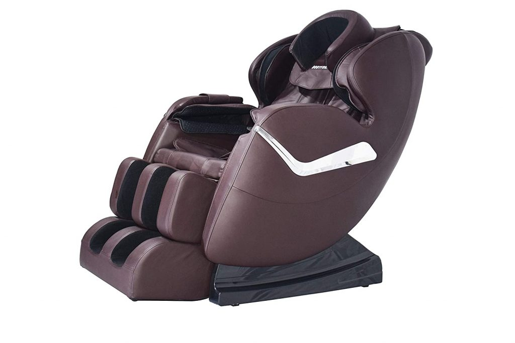 massage chair with black leather fabric